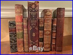 1700s-1800s Old Antique Leather Book Lot Collection GORGEOUS