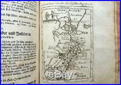1719 Allain Manesson Mallets 144 COPPER PLATES MAPS America Europe Leather Book