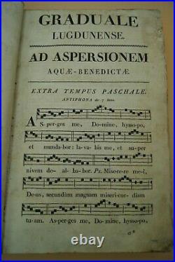 1819 Roman Gradual Liturgical Church Old Latin Book Catholic Graduale Lugdunense