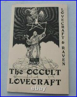 1975 THE OCCULT LOVECRAFT & RAVEN LIMITED EDITION Book Signed Gerry De La Ree