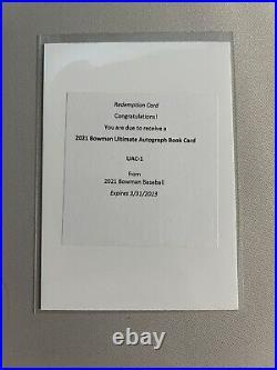 2021 Bowman Ultimate 24 Auto Autograph Book Redemption Card #/10