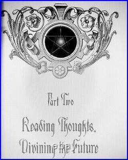 Antique book gothic grimoire dark magic witchcraft occult esoteric manuscript