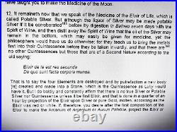 Antique book magic rosicrucian secret alchemy occult esoteric rare manuscript of