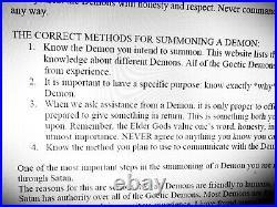 Antique book occult black magic rare esoteric manuscript demons satanic grimoire