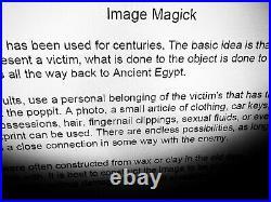 Antique book satanic grimoire black magic rare esoteric manuscript occult manual
