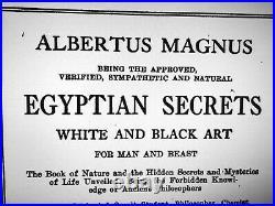 Antique book white black magic egyptian secret occult esoteric rare manuscript