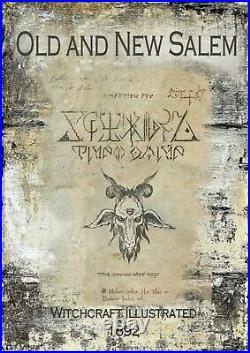 Antique book witchcraft magic occult sorcery satanic esoteric manuscript salem 1