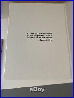 Blek Le Rat Signed Book & Original Spray Rat On Wood Ltd To 100 Obey Brainwash