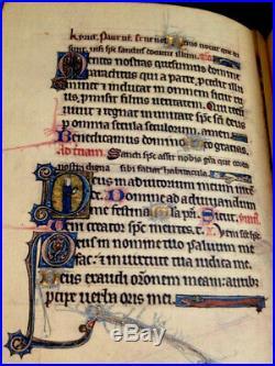 Book Of Hours, 1289 England. Leather Facsimile