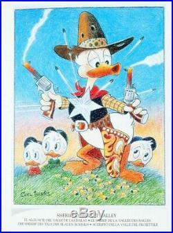 Carl Barks Treasury Signed Donald Duck Scrooge Art Book SEALED NEW Ltd Ed 1000