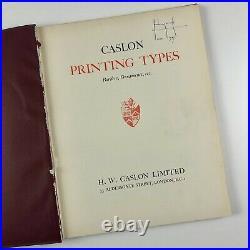 Caslon Ltd Printing Types Borders, Ornaments etc 1937 type specimen book