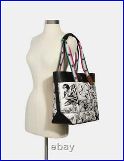 Coach X Marvel Jes Tote With Comic Book Print New Authentic Limited Edition
