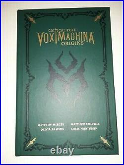 Critical Role Vox Machina Origins VOL 1 Limited Edition Hardcover Book & Print