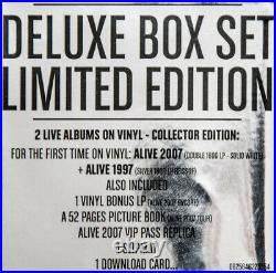 Daft Punk Box Alive 2007 / Alive 1997 (Deluxe 4LP + Book + Slipmat Boxset) OVP