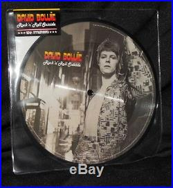 David Bowie 40th Ann. Set Of 1st 10 Picture Disc 7 Vinyl New Rare + Book Oop