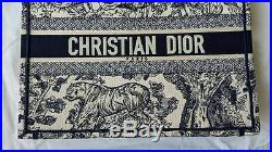 Dior Small Blue Book Tote Toile De Jouy NEW shopping bag