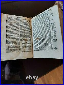 Exposition of The Four Books of Sentences of Peter Lombard 1498 Latin Incunabula