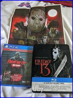 Friday the 13th blu ray collection, limited edition steel book, RARE, see below