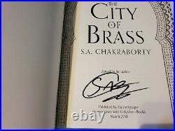 Goldsboro City Of Brass Trilogy signed sprayed first edition