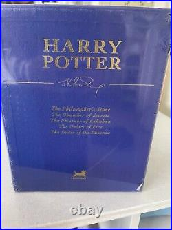 HARRY POTTER Deluxe Limited Edition, Rare Boxed Set of Books 1-5, New Unused