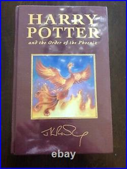 HARRY POTTER The Order Of The Phoenix UK Deluxe Edition SEALED 1st/1st print