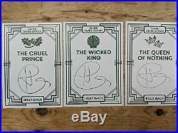Holly Black Cruel Prince Wicked King and Queen of Nothing SIGNED Fairyloot books