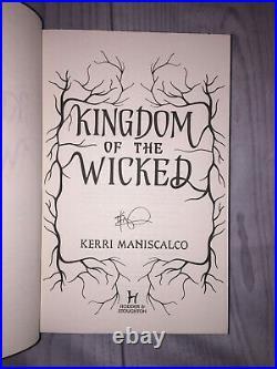 Kingdom of the Wicked Kerri Maniscalco Fairyloot Edition Hardcover Book