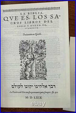 La Biblia Del Oso CASIDORO DE REINA 1569 Edicion Lujo Colecion 450 Años CR1569