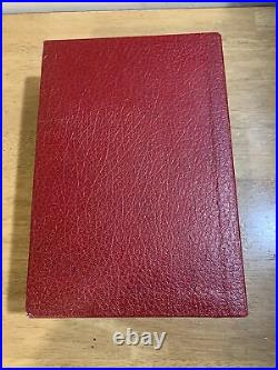 Lord of the Rings Red Foil Leather Bound Complete Trilogy Book HMCO Tolkien 1976