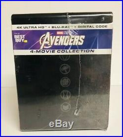 Marvel Avengers 4 Movie Collection Steel book 4K Ultra HD Blu Ray Sealed