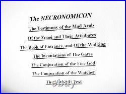 Necronomicon original book aleister crowley kabbalah occult dark rare grimoire