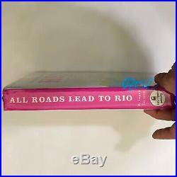 Nwt Kate Spade All Roads Lead To Rio Emanuelle Fine Feather Book Clutch Pxru4961