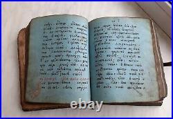 Old church book MANUSCRIPT book PSALTER / RARE BOOK