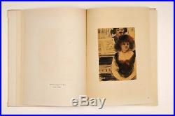 Original Vintage Limited Edition Lithographs Book E. Degas Les Monotypes 1948