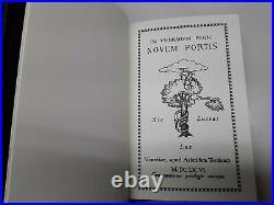 Rare Limited Edition Leather Novem Portis Nine Gates Book of Shadows Grimoire 2s