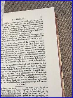 Samuel Pepys Diaries Limited edition 11 Book Box Set No. 115 From 1000 Copies