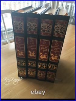 Set 4 Easton Press KING ARTHUR Sir Lancelot Howard Pyle Leather Hardbound Books