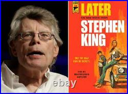 Signed, limited edition of LATER, by Stephen King 374 copy ed. Titan Books