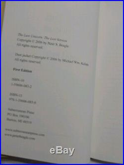 The Last Unicorn The Lost Version, RARE, 1st/Ltd. Ed, Subterranean Press, 2006