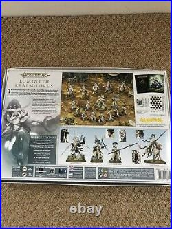Warhammer Age Of Sigmar AOS Lumineth Realm-Lords Army Box & Limited Edition Book
